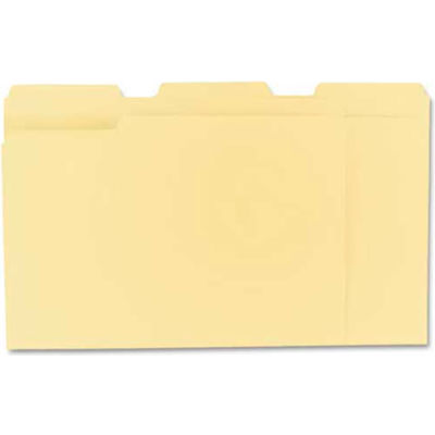 Universal® File Folders, 1/3 Cut Assorted, One-Ply Top Tab, Letter, Manila, 100/Box