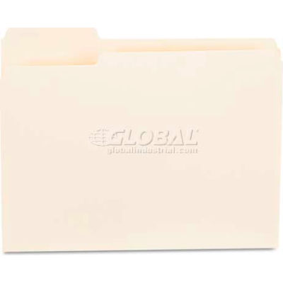 Universal® File Folders, 1/3 Cut First Position, One-Ply Top Tab, Letter, Manila, 100/Box