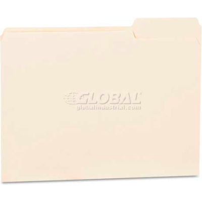 Universal® File Folders, 1/3 Cut Third Position, One-Ply Top Tab, Letter, Manila, 100/Box