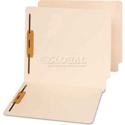 Universal® End Tab Folders, Two Fasteners, Letter, Manila, 50/Box