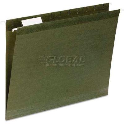 Universal® Reinforced Recycled Hanging Folder, 1/3 Cut, Letter, Standard Green, 25/Box