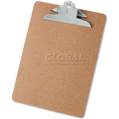 "Universal Hardboard Clipboard, 1-1/4"" Capacity, Holds 8-1/2 x 11, Brown"