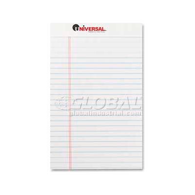 Universal® Perforated Edge Writing Pad, Jr. Legal Rule, 5 x 8, White, 50-Sheet, Dozen