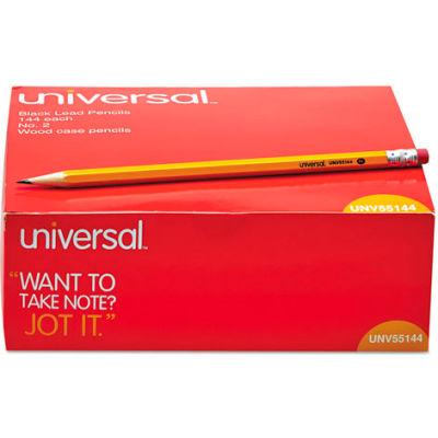 Universal Economy Woodcase Pencil, HB #2, Yellow Barrel, 144/Pack