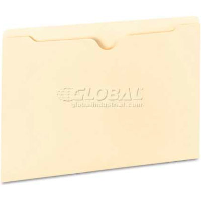 Universal® Manila File Jackets with Reinforced Tabs, Flat, Legal, 100/Box