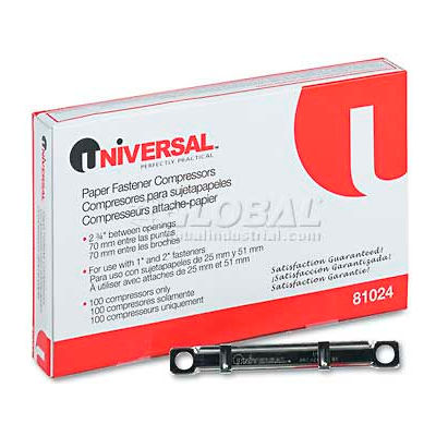 Universal® Compressors for File And Paper Fastener Prong Bases, 2-3/4 Inch Center, 100/Box