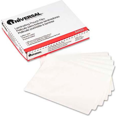 Universal Clear Laminating Pouches, 3 mil, 9 x 11-1/2, 100/Box