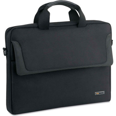 "SOLO® Pro Slim Brief, 16"", 15 1/4 x 2 x 11 1/2, Black"