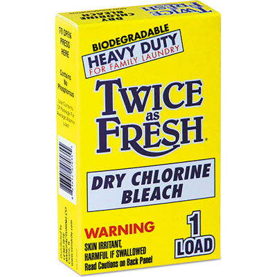 Diversey Twice As Fresh Laundry Bleach Powder, 2 oz. Box, 100 Boxes - 2979646