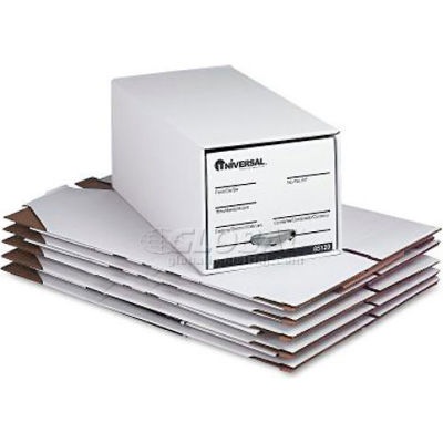 Universal 85120 Economy Storage Drawer File, Letter, 12 x 10 x 24 , White,6 per Carton