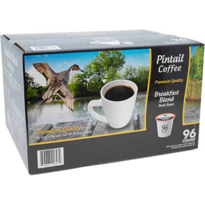 Pintail Coffee Breakfast Blend,  Dark Roast, 0.53 oz.,  96 K-Cups/Box