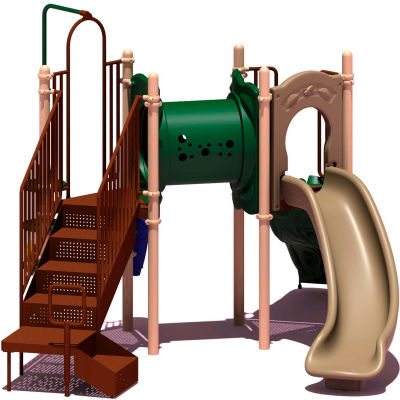 UPlay Today™ Deer Creek Commercial Playground Playset, Natural (Green, Tan, Brown)