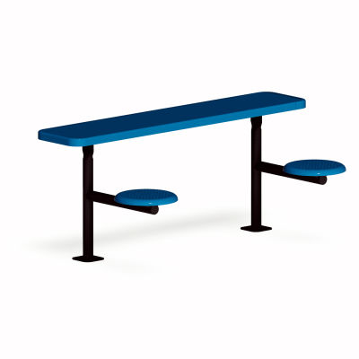 UltraPlay 6-ft. Solid Top Surface Mount Outdoor Classroom Desk, Blue