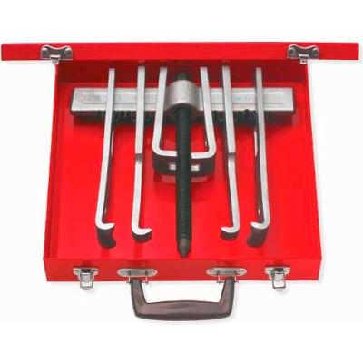 Urrea Straight Jaw Puller Set 4234B, 10 Ton, 2-Way 6 Jaws, 12 Pieces