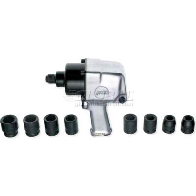 "Urrea Extra Heavy Duty Twin Hammer Pistol Grip Impact Wrench Set UP776K, 3/4"" Drive, 5500 RPM"