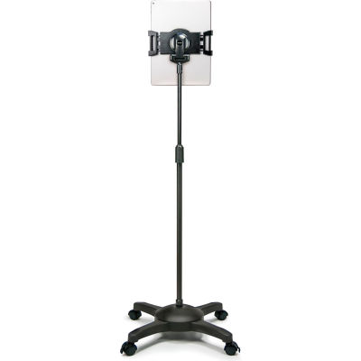 Aidata US-5123RB Universal Tablet Mobile ViewStand with Locking Casters, Black