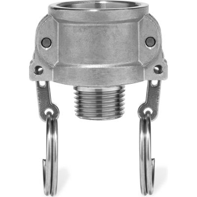 "1/2"" 316 Stainless Steel Type B Coupler with Threaded NPT Male End"
