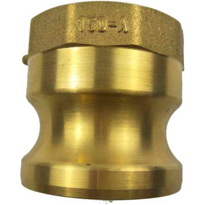 """1/2"""" Brass Type A Adapter with Threaded NPT Female End"""