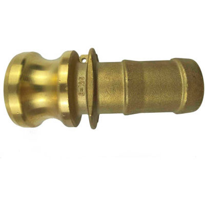 "2"" Brass Type E Adapter with Hose Shank"