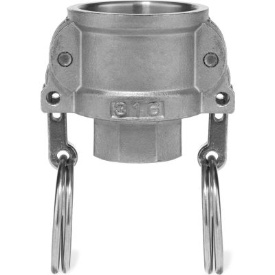 "1-1/2"" 316 Stainless Steel Type D Coupler with Threaded NPT Female End"