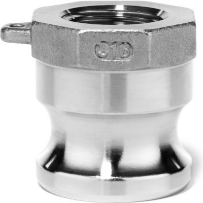 """2"""" 316 Stainless Steel Type A Adapter with Threaded NPT Female End"""