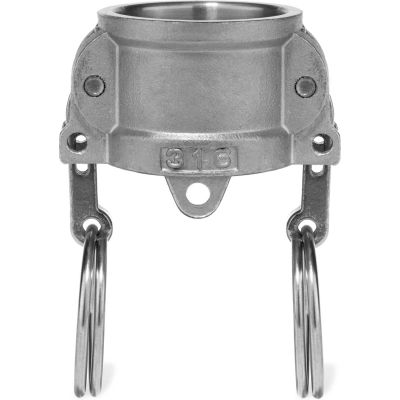 """2"""" 316 Stainless Steel Type DC Coupler with Dust Cap"""