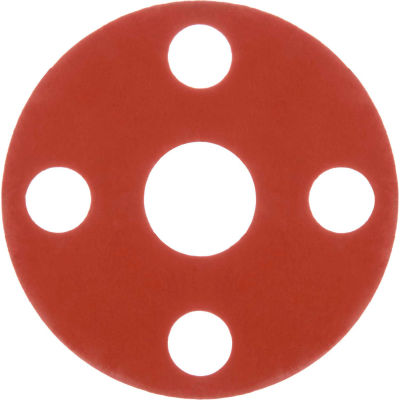 """Full Face Silicone Flange Gasket for 5"""" Pipe-1/16"""" Thick - Class 150"""
