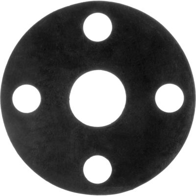 """Full Face Buna-N Flange Gasket for 4-1/2"""" Pipe-1/16"""" Thick - Class 150"""