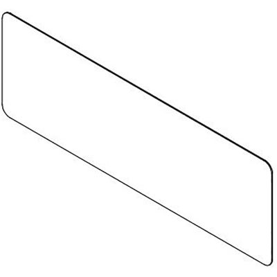 """USA Sealing Clear Plastic Dividers with Round Corners - 1/4"""" T x 42"""" W x 36"""" H - Pkg Qty 4"""