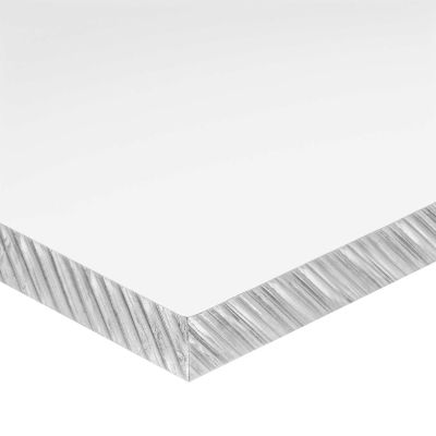 "Cast Acrylic Plastic Bar - 1/2"" Thick x 6"" Wide x 12"" Long"