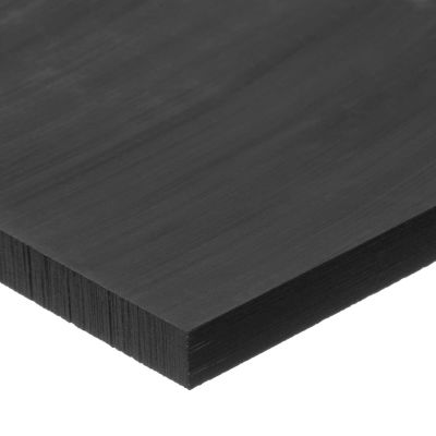 "Black UHMW Polyethylene Plastic Sheet - 1"" Thick x 24"" Wide x 24"" Long"