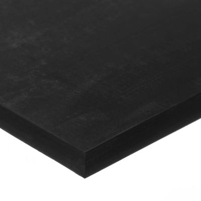 "Buna-N Rubber Sheet with Acrylic Adhesive - 70A - 1/2"" Thick x 18"" Wide x 36"" Long"