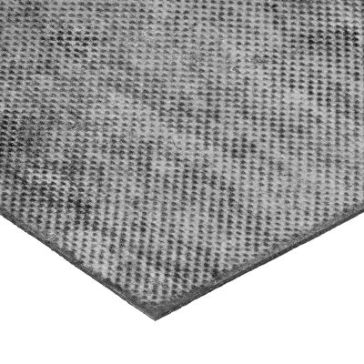 "Fabric-Reinforced High Strength Buna-N Rubber Sheet No Adhesive - 60A - 1/8"" Thick x 12"" W x 12"" L"