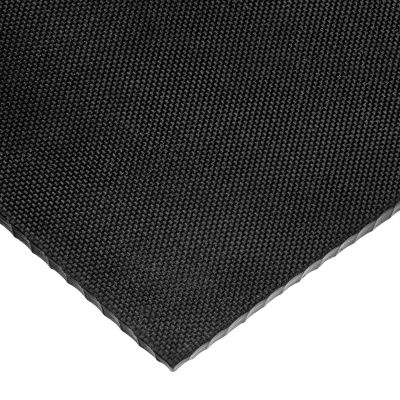 """Textured Neoprene Rubber Sheet with Acrylic Adhesive - 70A - 3/16"""" Thick x 12"""" Wide x 12"""" Long"""