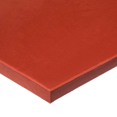 """FDA Silicone Rubber Sheet with High Temp Adhesive - 50A - 1/4"""" Thick x 6"""" Wide x 6"""" Long"""