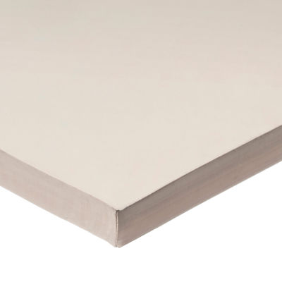 "White FDA Silicone Rubber Sheet with High Temp Adhesive - 50A - 1/2"" Thick x 24"" Wide x 24"" Long"