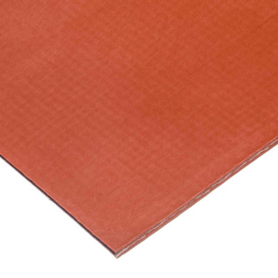 """Fiberglass Fabric-Reinforced Silicone Rubber Sheet High Temp Adhesive 70A 1/8"""" Thick x 36""""W x 36""""L"""