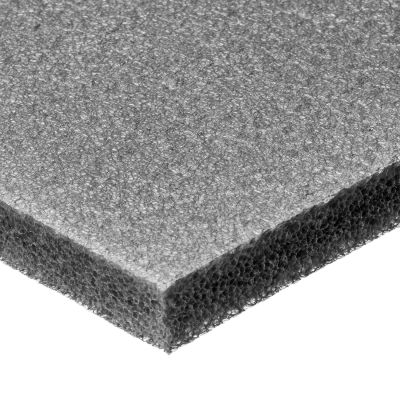 "Cross-Linked Polyethylene Foam Sheet with Acrylic Adhesive - 1/2"" Thick x 24"" Wide x 24"" Long"