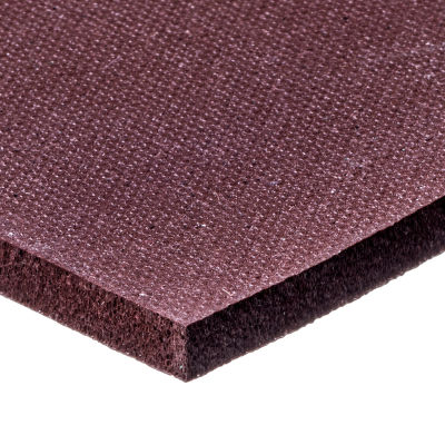 """Low Compression Set Silicone Foam Sheet with High Temp Adhesive - 1/16"""" Thick x 12"""" Wide x 12"""" Long"""