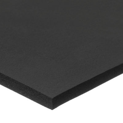 """Firm Neoprene Foam Sheet with Acrylic Adhesive - 1/8"""" Thick x 12"""" Wide x 12"""" Long"""