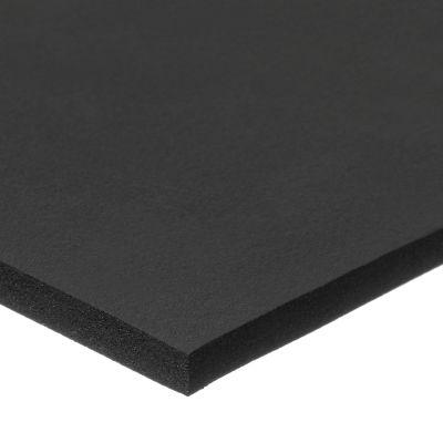 "Fire Retardant Neoprene Foam Sheet with Acrylic Adhesive - 1/2"" Thick x 12"" Wide x 24"" Long"