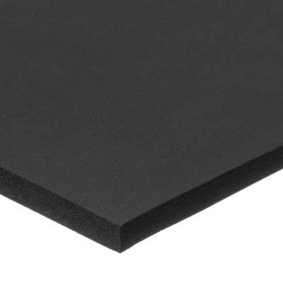 "Fire Retardant Neoprene Foam Strip with Acrylic Adhesive - 3/8"" Thick x 6"" Wide x 10 Ft. Long"