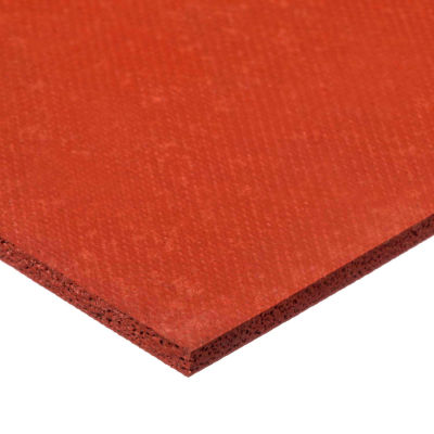 """Silicone Foam with High Temp Adhesive-3/16"""" Thick x 12"""" Wide x 24"""" Long"""