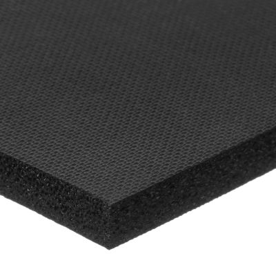 "Black Silicone Foam With High Temp Adhesive - 1/4"" Thick x 1/2""W x 6'L"