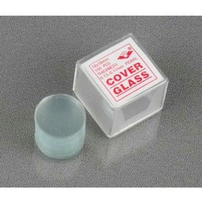 AmScope CS-R18-100 100 pcs. Pre-Cleaned 18mm Diameter Round Microscope Cover Slips
