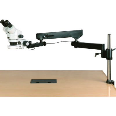 AmScope SM-8B-144S 7X-45X Binocular Articulating Zoom Stereo Microscope with Clamp & 144-LED Light