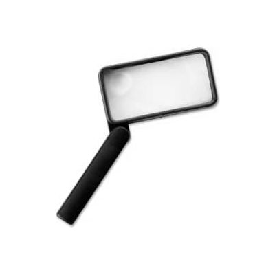 """Sparco™ Hand-Held Magnifier, 2X Magnification with 4X Inset, 2"""" x 4"""" Lens, Acrylic"""