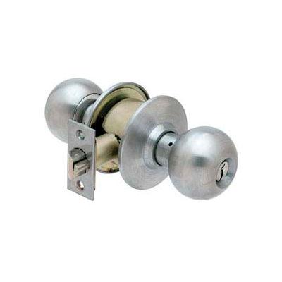 Ultra Hardware Lock Storeroom Ball Knob Ss K/D - Pkg Qty 6