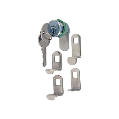 Ultra Hardware Mailbox Lock Kd 5 Cams Polybag - Chrome - Pkg Qty 12
