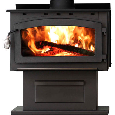 King EPA Certified Wood Stove With Blower 2016EB, 89000 BTU, 2000 Sq. Ft.